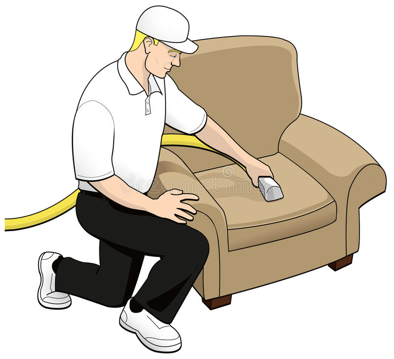Arte de grampo da tecnologia da limpeza de Upholstery ilustração stock