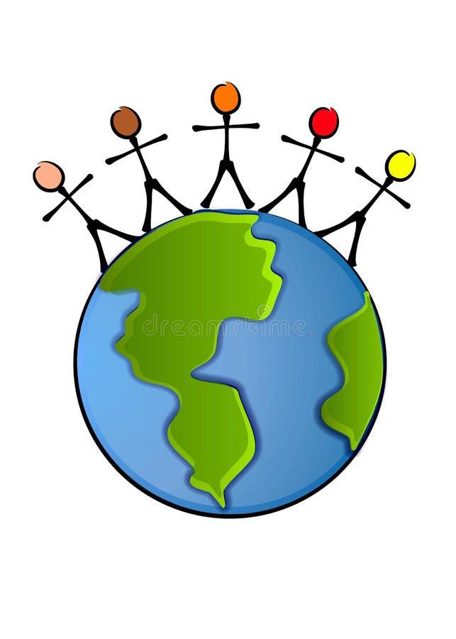 Arte de grampo da terra da paz do mundo ilustração stock
