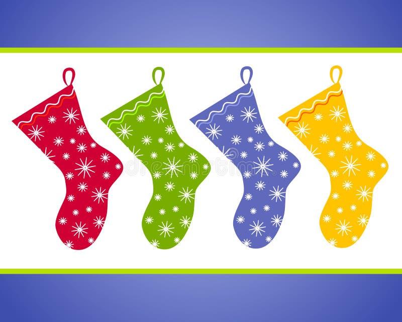 Arte de grampo das meias do Natal ilustração royalty free