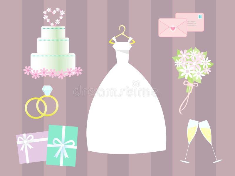 Arte de grampo do casamento do vetor ilustração royalty free