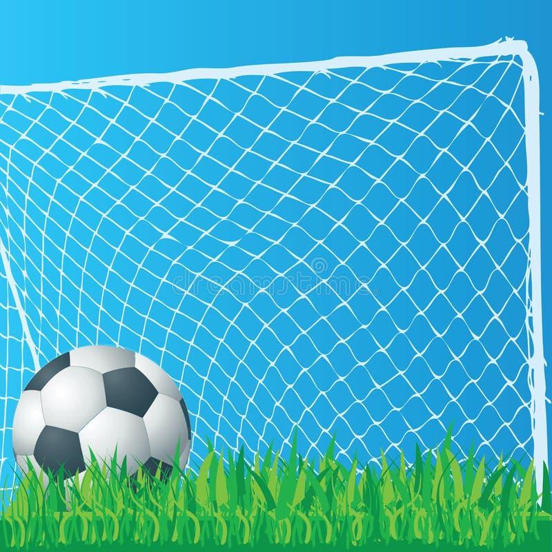 Arte de grampo do futebol imagens de stock