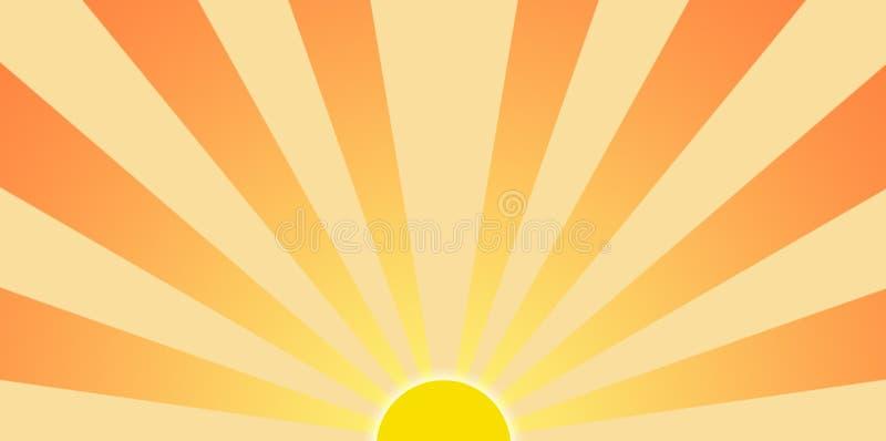 Arte de grampo gráfica de Sun de ajuste ilustração royalty free