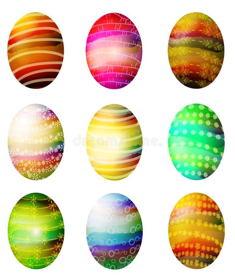 Arte de grampo tingida Folksy dos ovos de Easter ilustração royalty free