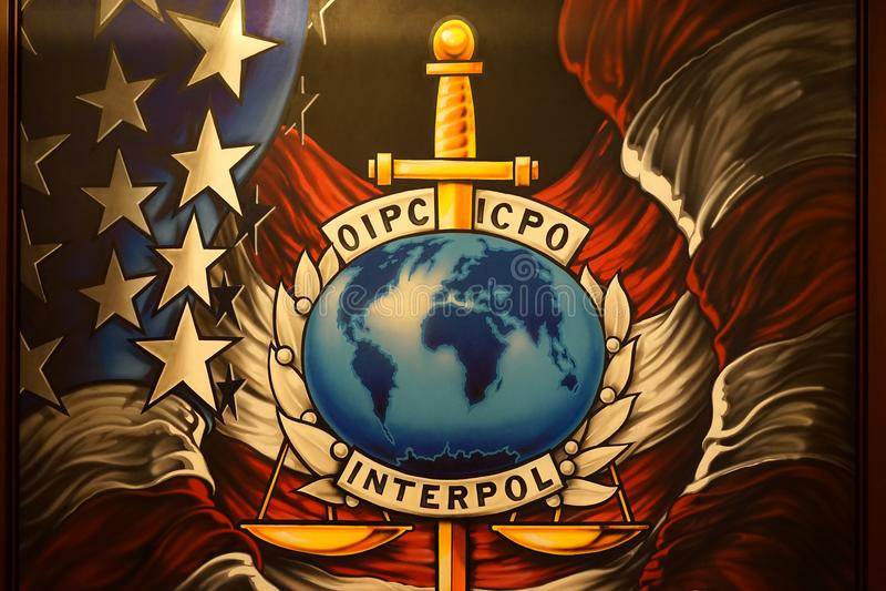 Arte de Interpol fotos de stock
