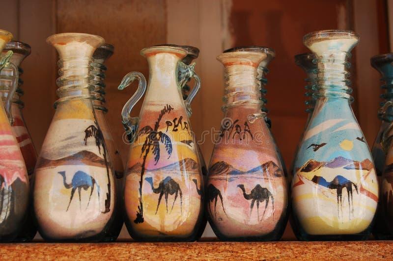 Arte de la arena en la botella fotografía de archivo libre de regalías