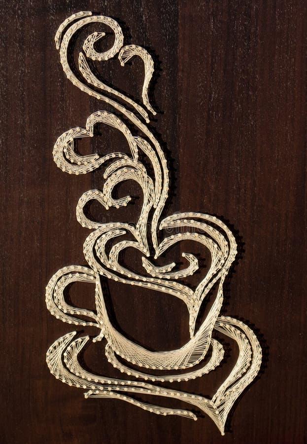 Arte de la cadena de la taza de café imágenes de archivo libres de regalías