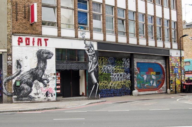 Arte de la calle de la pintada, Hoxton imágenes de archivo libres de regalías