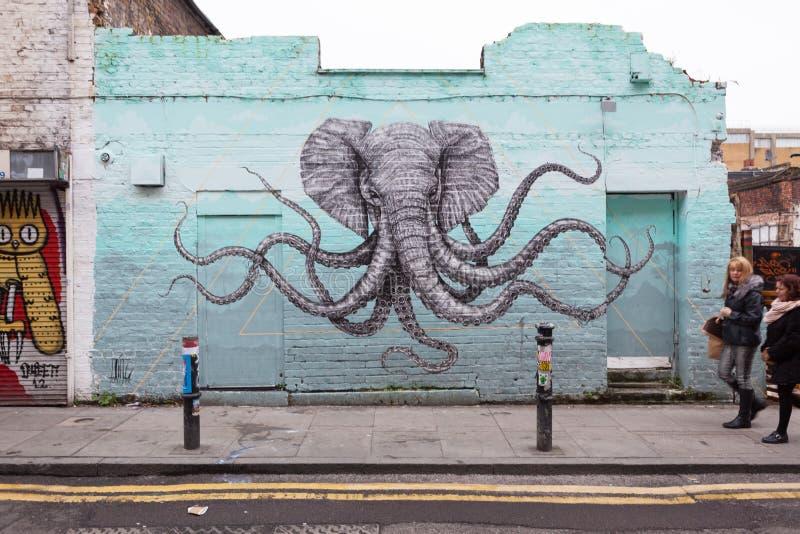 Arte de la calle de Londres fotos de archivo libres de regalías