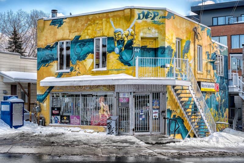 Arte de la calle en Montreal fotografía de archivo libre de regalías