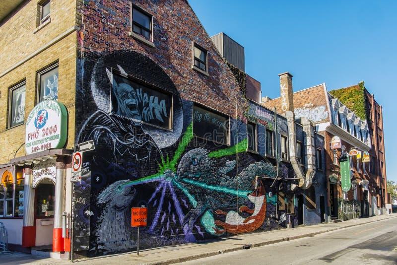 Arte de la calle en Montreal fotos de archivo libres de regalías