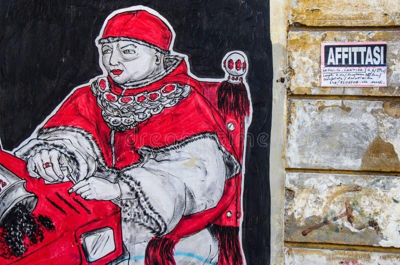 Arte de la calle en Roma imagenes de archivo