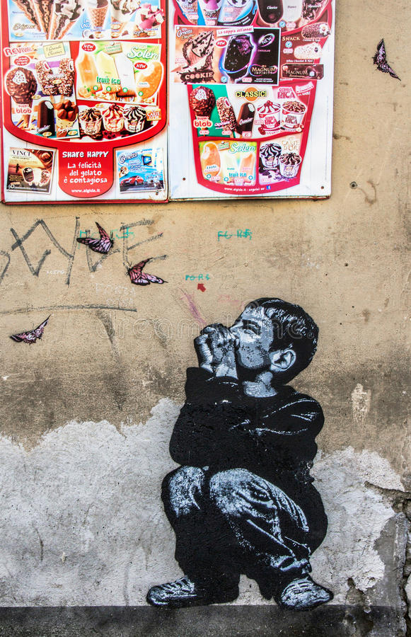 Arte de la calle en Roma fotografía de archivo libre de regalías