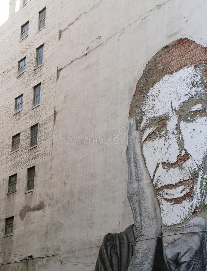 Arte de la calle en una pared imágenes de archivo libres de regalías