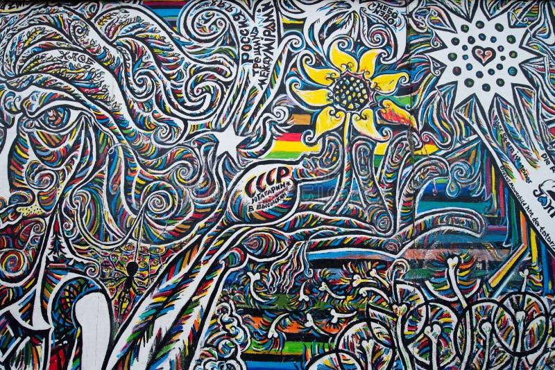 Arte de la calle de la galería de la zona este fotografía de archivo