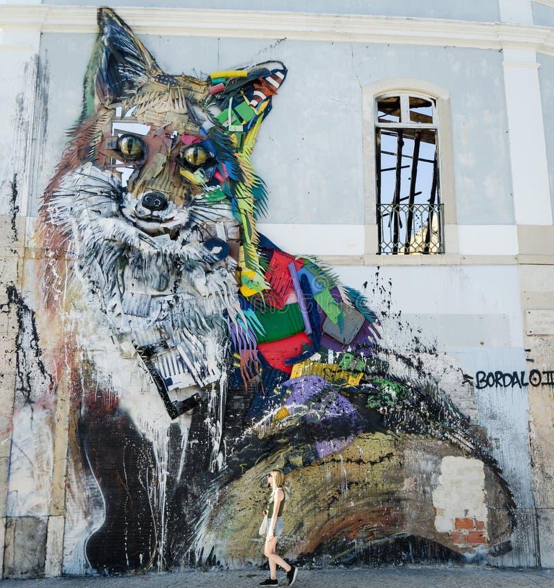 Arte de la calle, Lisboa imagen de archivo libre de regalías