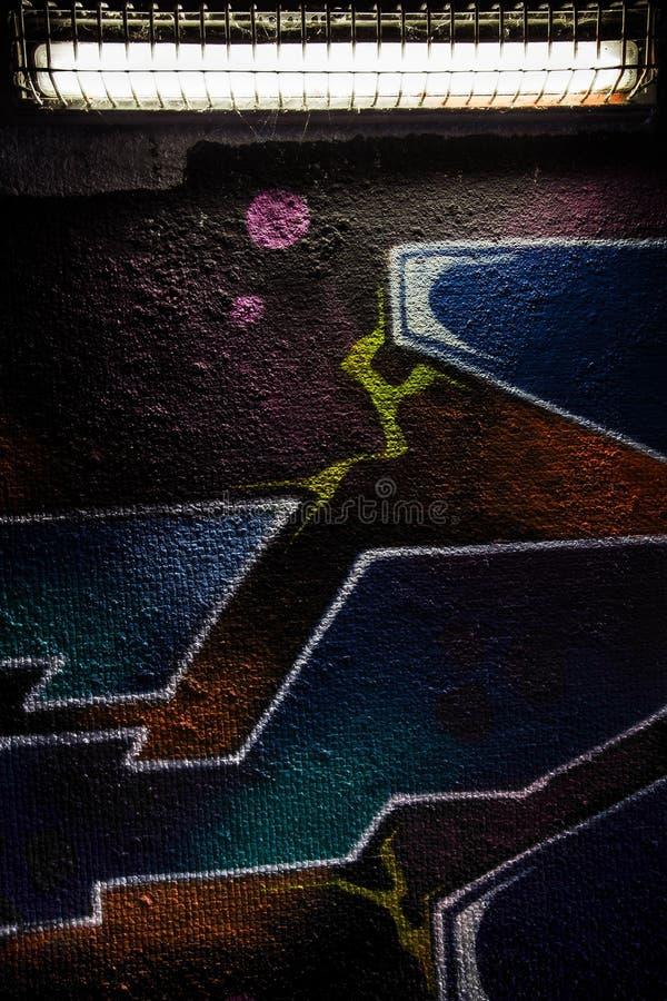Arte de la calle subterráneo fotografía de archivo