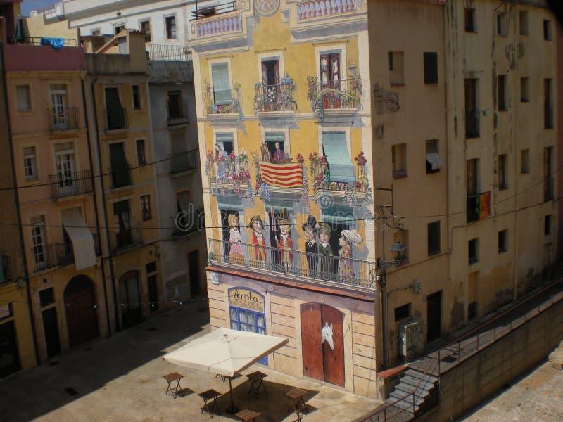 Arte de la calle de Tarragona foto de archivo libre de regalías