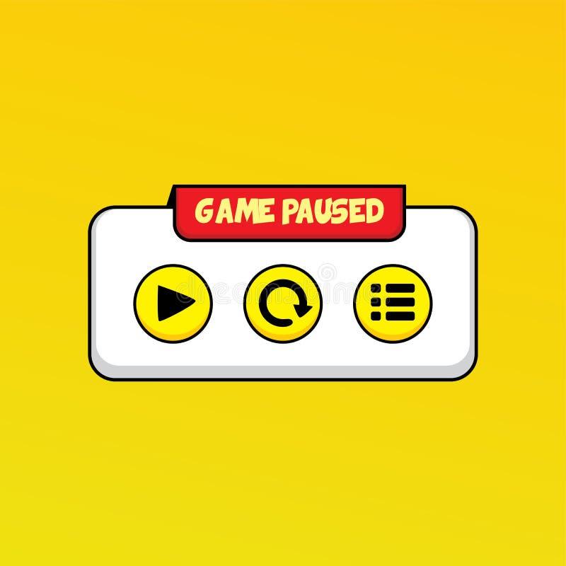 arte de la capa del botón del icono del menú del activo del videojuego libre illustration