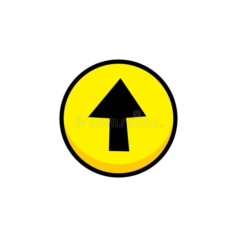arte de la capa del botón del icono del menú del activo del videojuego de la flecha stock de ilustración