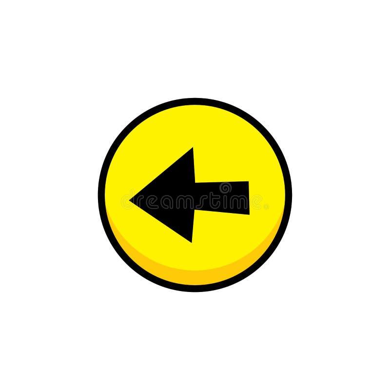 arte de la capa del botón del icono del menú del activo del videojuego de la flecha libre illustration