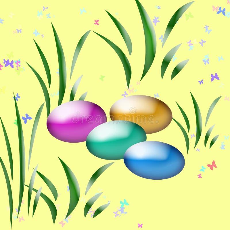 Arte de la caza del huevo de Pascua ilustración del vector