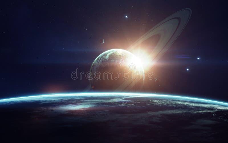 Arte de la ciencia ficción Belleza del espacio profundo Elementos de esta imagen equipados por la NASA imagenes de archivo