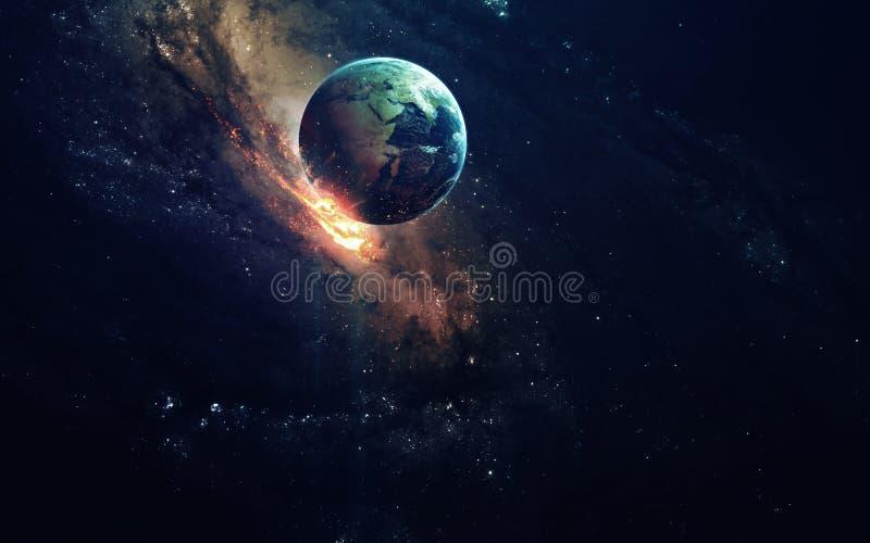 Arte de la ciencia ficción Belleza del espacio profundo Elementos de esta imagen equipados por la NASA fotos de archivo
