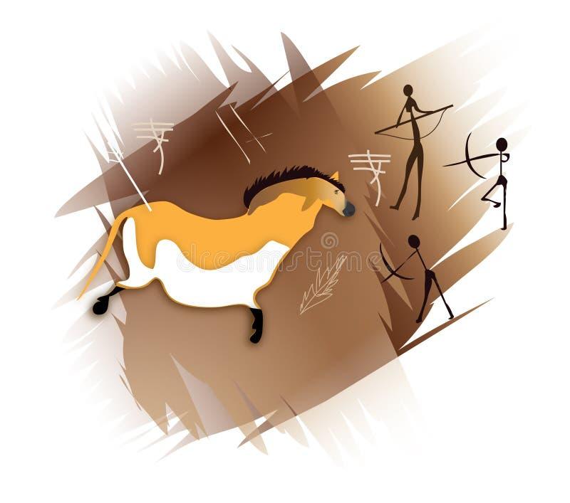 Arte de la cueva stock de ilustración