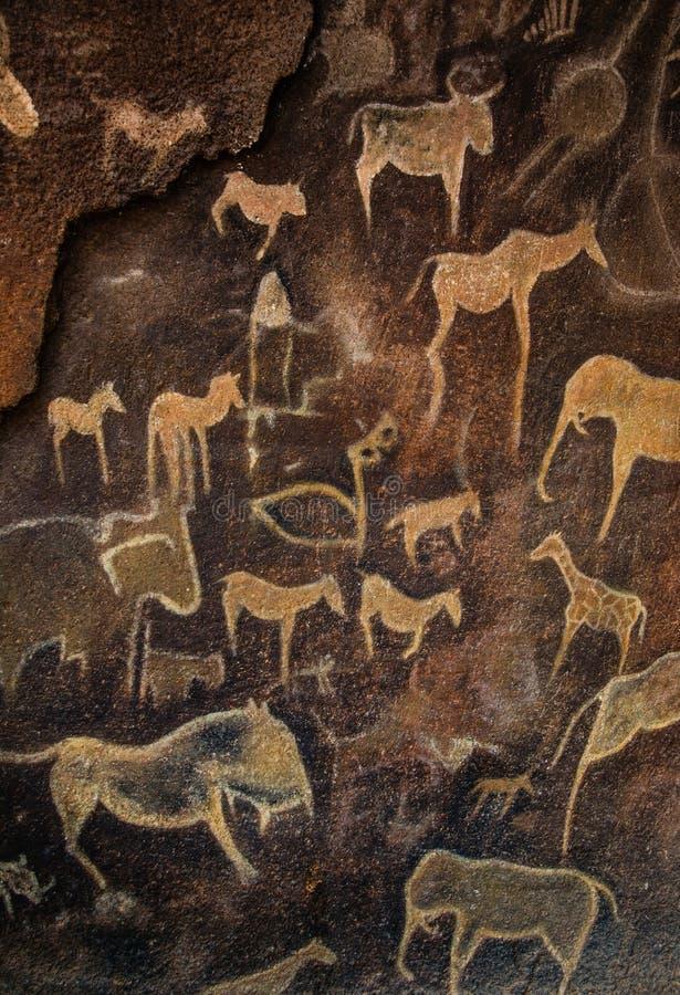 Arte de la cueva imagen de archivo libre de regalías