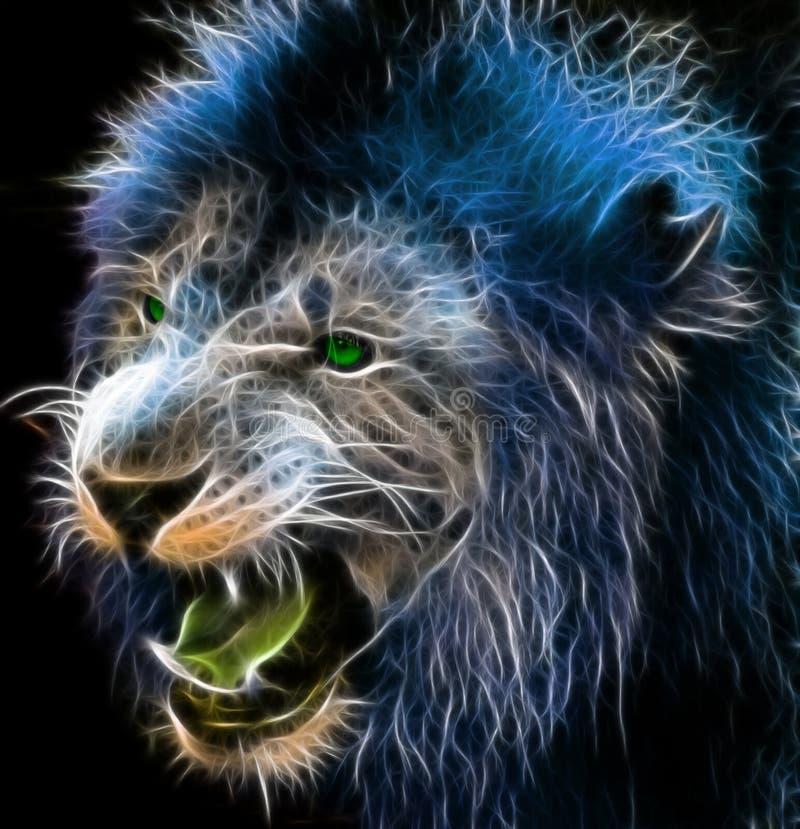 Arte de la fantasía de un león stock de ilustración