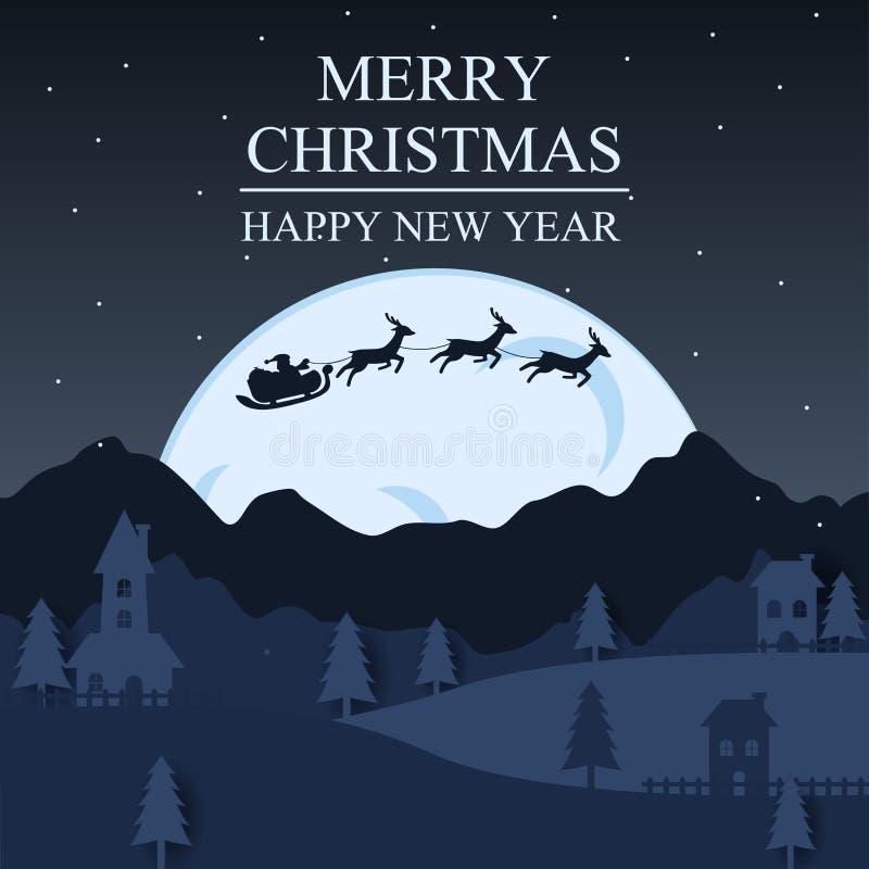 Arte de la Feliz Navidad y del papel de Feliz Año Nuevo Ejemplo de S libre illustration