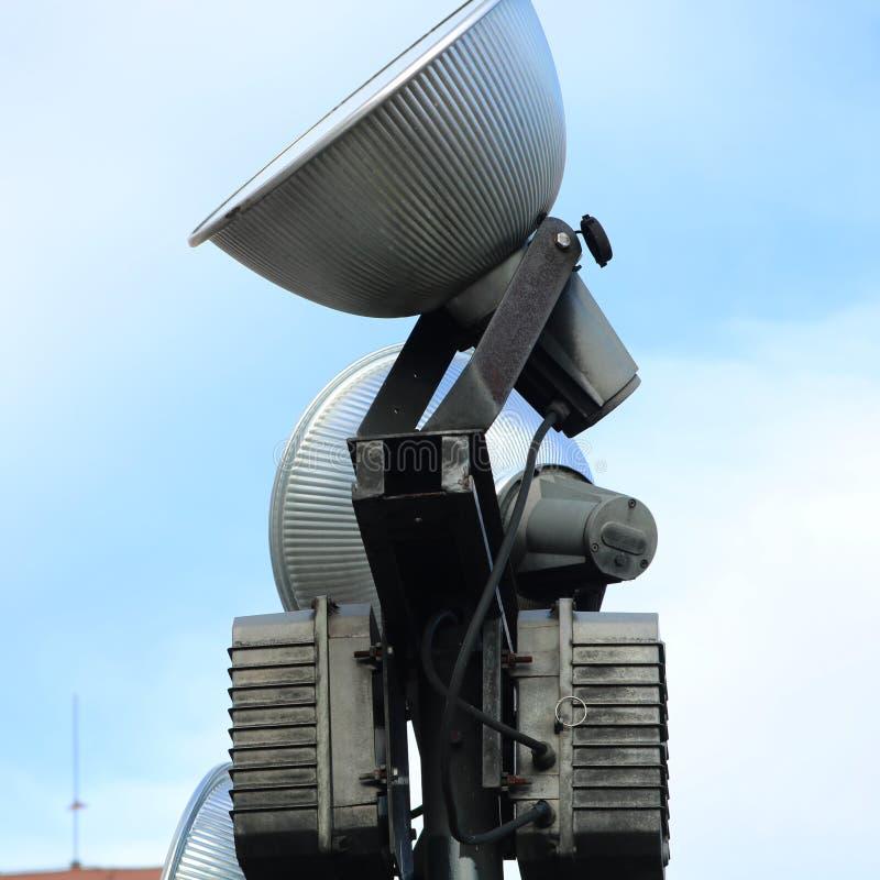 Arte de la lámpara en el tejado imagen de archivo