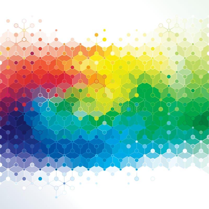 Arte de la molécula. stock de ilustración