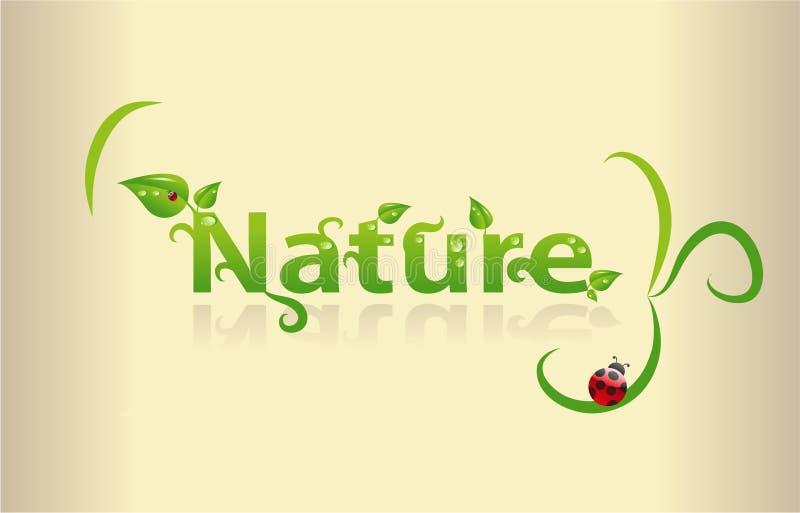 Arte de la palabra de la naturaleza ilustración del vector