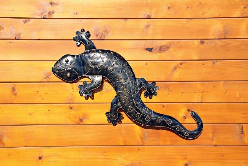 Arte de la pared del lagarto del Gecko foto de archivo libre de regalías