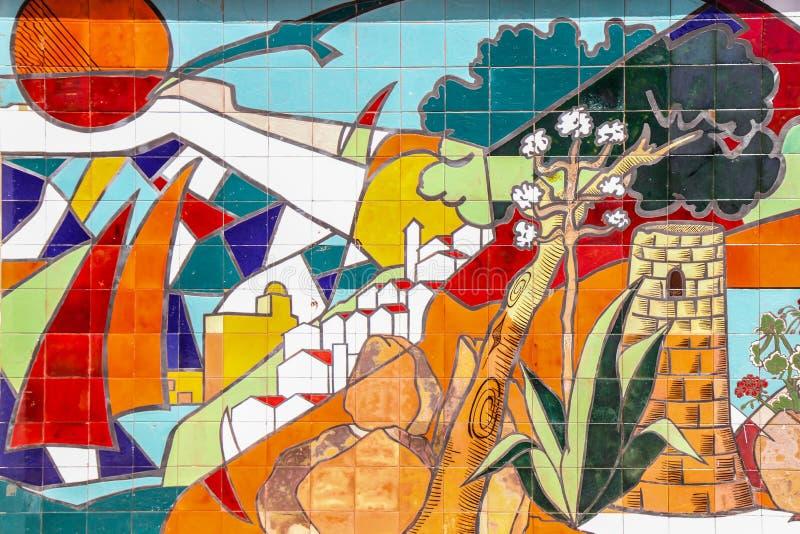 Arte de la pared del mosaico foto de archivo