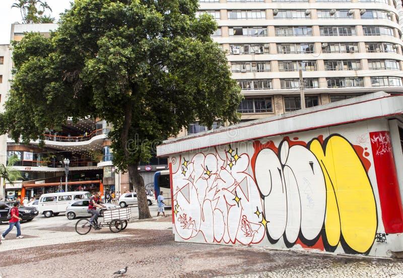 Arte de la pintada en Sao Paulo, el Brasil fotos de archivo libres de regalías