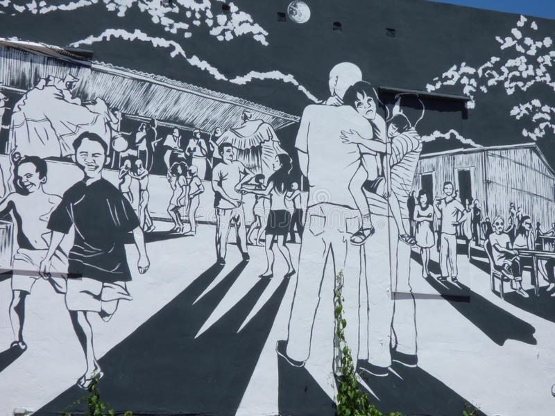 Arte de la pintada, pared en San Juan, Puerto Rico foto de archivo