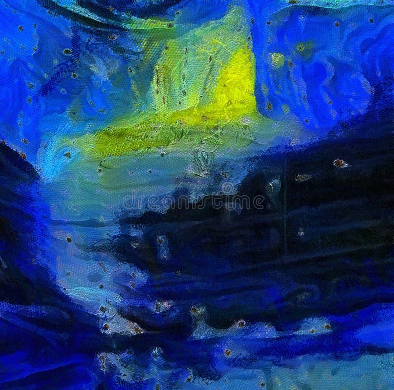 Arte de la textura del extracto de la mezcla del color de la impresión Backg brillante artístico stock de ilustración