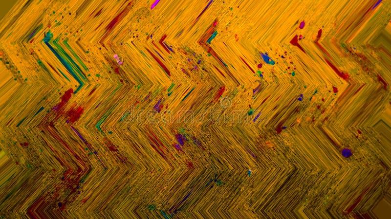 Arte de los puntos de la pintura del Grunge Movimientos de pintura de acrílico en lona Arte moderno Lona gruesa de la pintura Fra stock de ilustración