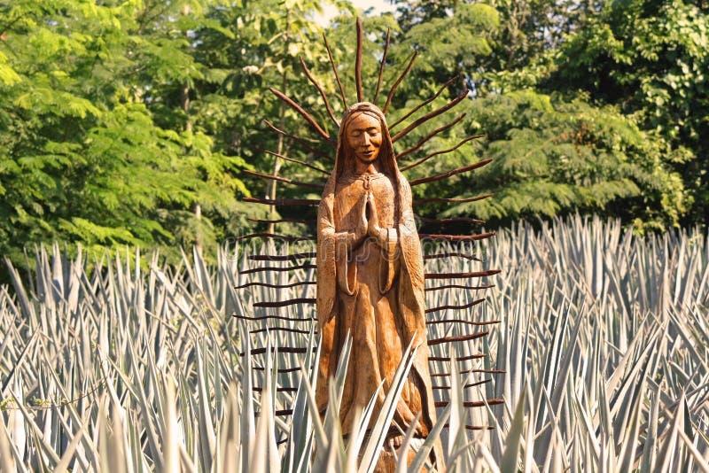 Arte de madera sacro mexicano imagen de archivo libre de regalías