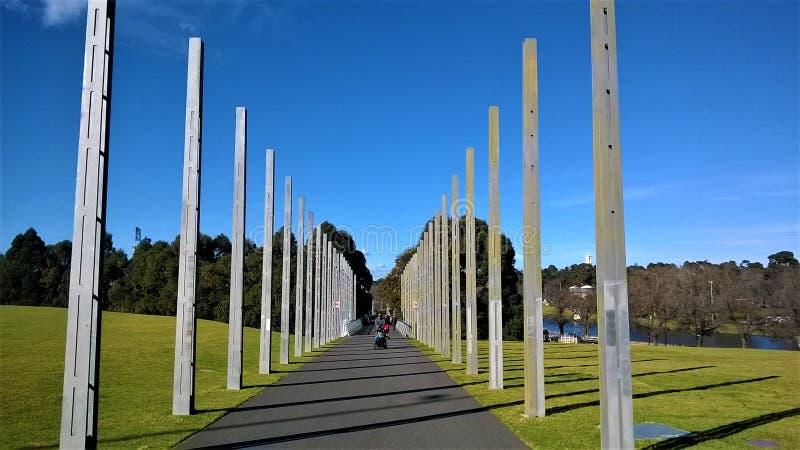 Arte de Melbourne Australia en el parque imagen de archivo