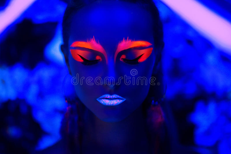 A arte de néon compõe imagem de stock royalty free