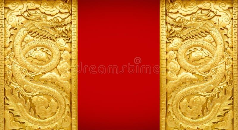 Arte de oro del dragón imágenes de archivo libres de regalías