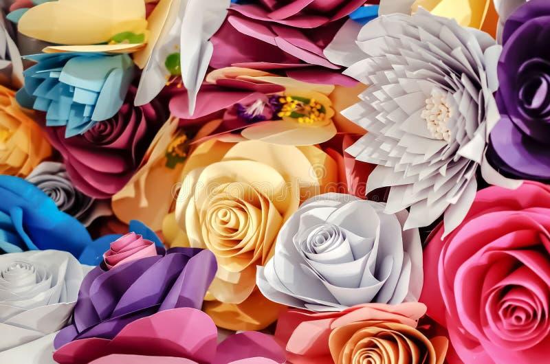 Arte de papel de las rosas fotografía de archivo libre de regalías