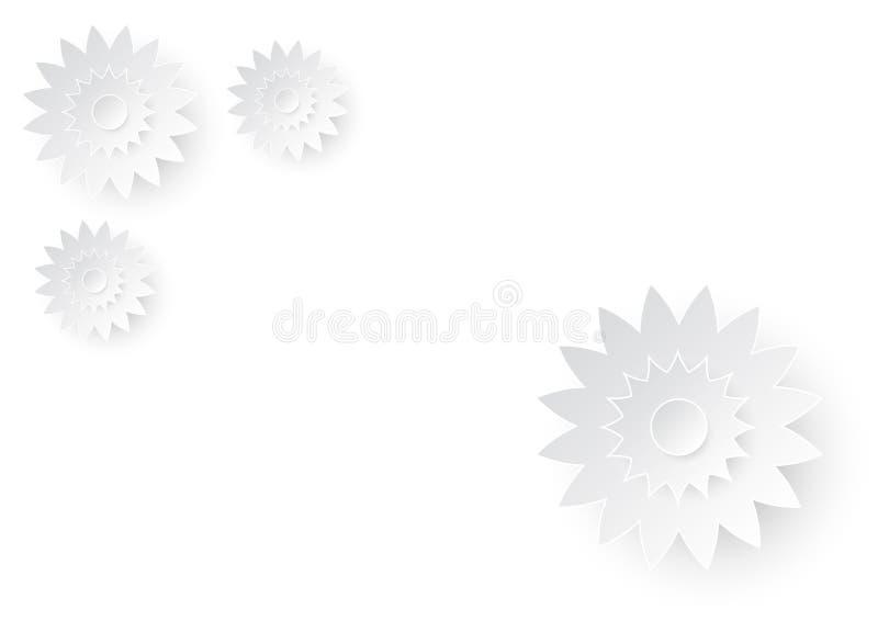 Arte de papel de la flor de corte en el Libro Blanco ilustración del vector