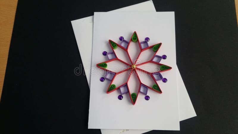 Arte de papel de las tarjetas de felicitación de Quilling imagen de archivo libre de regalías