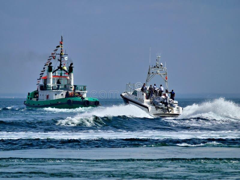 Arte de patrulla costero de la policía imágenes de archivo libres de regalías