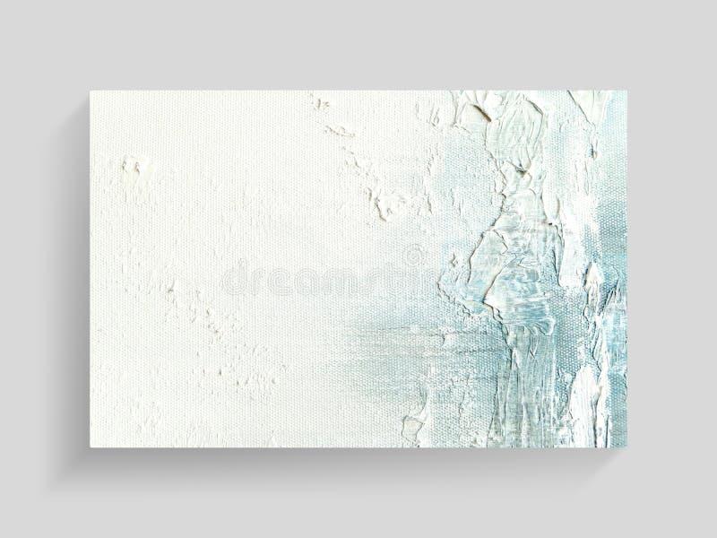 Arte de pintura abstracto en fondo de la textura de la lona Imagen del primer fotografía de archivo libre de regalías