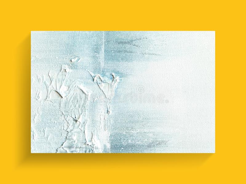 Arte de pintura abstracto en fondo de la textura de la lona Imagen del primer imagen de archivo